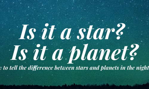 The difference between stars and planets in our solar system